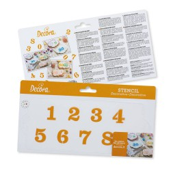 TEMPLATE NUMBERS 10 X 25 CM...