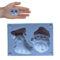 SILICONE MOLD FOR CHRISTMAS AND CHRISTMAS SOCKS ( SM402 )