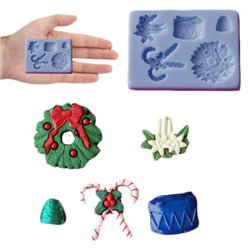 SILICONE MOULD CHRISTMAS DECORATION ( SM758 )