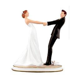 RESIN WEDDING COUPLE 15 CM. ( NO0123 )