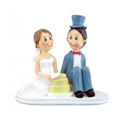 COUPLE WITH RESIN CAKE 16 CM.