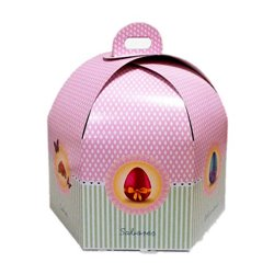HEXAGONAL CAKE BOX 27 X 19 CM. HEIGHT
