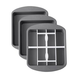 SET OF 3 SQUARE CHESS MOULDS ( 2105-5745 )