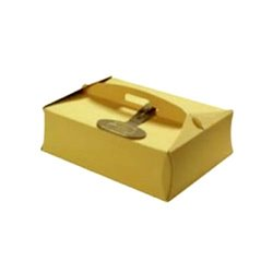 RECTANGULAR CAKE BOX WITH VANILLA HANDLE 44 X 55 X 12 CM. HEIGHT