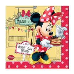 PACK 20 MINNIE'S CAFE DOUBLE LAYER PAPER NAPKINS ( 33 X 33 CM. )