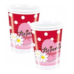 PACK 10 PLASTIC CUPS 200 ML. MINNIE MOUSE