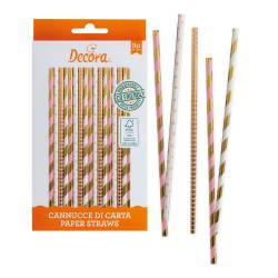 ROSE & GOLD STRAWS 80...