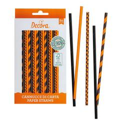 ORANGE-BLACK STRAWS 80...