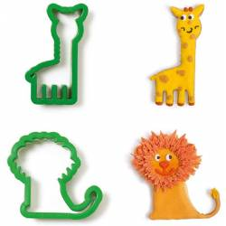 SET 2 GIRAFFE AND LION...