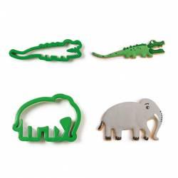 SET 2 CROCODILE AND ELEPHANT CUTTERS, DECORA ( 0255191 )