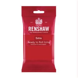 EXTRA RED FONDANT 250 GRAMS RENSHAW ( 02852 )