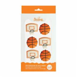 6 PIECES BASKETBALL SUGAR...