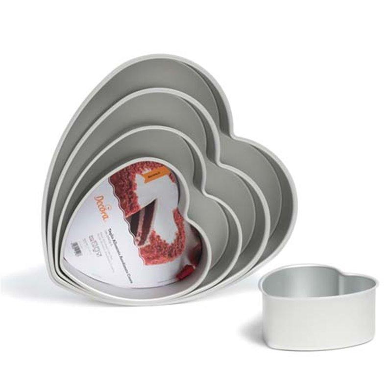 ANODIZED HEART CAKE MOULD 25 X 7,5 CM. DECORATES ( 0062670 )