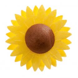 150 FLOWERS SUNFLOWER WAFERS 4,5CM DEKORA(126086)