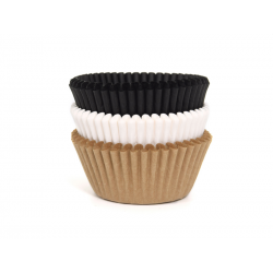 75 BAKING CUPS ASSORTED NATURAL 50x33mm