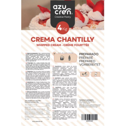 CREMA CHANTILLY AZUCREN 4 KG.