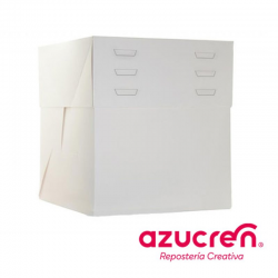 WHITE CAKE BOX ADJUSTABLE HEIGHT 40X30X20 AT 30CM.HEIGHT