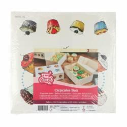 FUNCAKES CUPCAKE BOX 6 CAKE PK/3