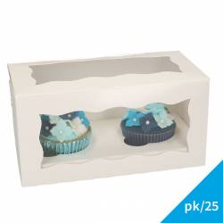 FUNCAKES CUPCAKE BOX 2 CAKE PK/25