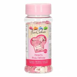 FUNCAKES HEARTS PINK-WHITE 60GR (G42415)