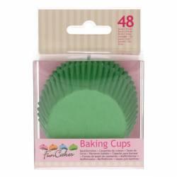 FUNCAKES BAKING CUPS GRASS GREEN PK/48 (FC4010)