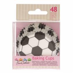 FUNCAKES BAKING CUPS SOCCER PK/48 (FC4021)