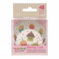 FUNCAKES BAKING CUPS PARTY PK/48 (FC4014)