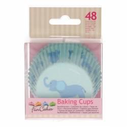 FUNCAKES BAKING CUPS BABY JUNGE PK/48 (FC4012)