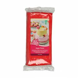 FUNCAKES SUGAR PASTE FIRE RED 250 GR (F20120)