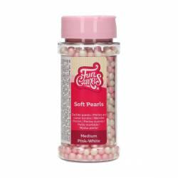 FUNCAKES SOFT PEARLS MEDIUM PINK/WHITE 60 GR(F51790)