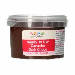 FUNCAKES READY TO USE GANACHE DARK CHOCO 260GR.(FC3020)