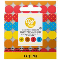 WILTON CANDY COLORS SET/4  (OIL BASED (04-0-0082)