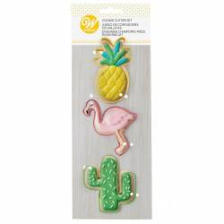 SET 3 WILTON TROPICAL ANIMAL BISCUIT CUTTERS ( 2308-5493 )