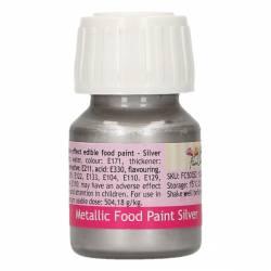FUNCAKES METALLIC PAINT SILVER 30ML. ( SILVER ) ( FC50352 )