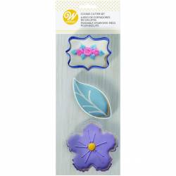 SET 3 FLORAL BISCUIT CUTTERS ( 2308-0-0110 )