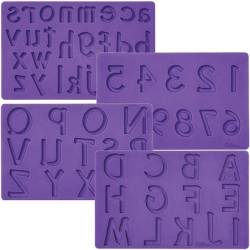 4 MOULDS LETTERS / NUMBERS WILTON ( 409-2547 )