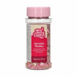 FUNCAKES SPRINKLES MEDLEY GLAMOUR PINK 65 GRAMS ( F51210 )