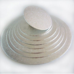 FUNCAKES SILVER ROUND BASE 20 CM X 4 MM THICK ( FC920RD )