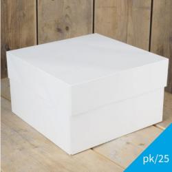 FUNCAKES WHITE CAKE BOX 25 X 25 X 15 CM. ( FC1086 )