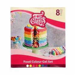 SET 8 COLORANTES ( FOOD COLOURS GEL SET )  ( F44300...