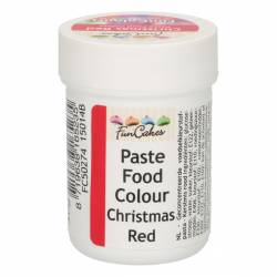 CHRISTMAS RED FOOD COLOURING PASTE 30 GRAMS FUNCAKES (...