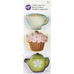 TEA SET ( 3 BISCUIT CUTTERS ) WILTON ( 2308-0092 )