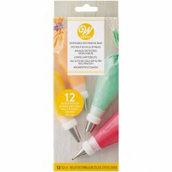 12 UNITS WILTON DISPOSABLE PIPING BAGS 30 CM ( 03-3111 )