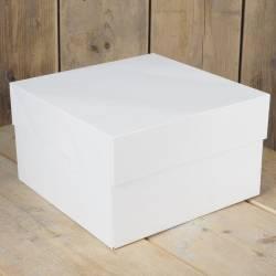 FUNCAKES WHITE CAKE BOX 20 X 20 X 20 X 15CM. ( FC1083 )