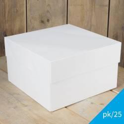 FUNCAKES PACK 25 WHITE CAKE BOXES 28 X 28 X 28 X 15CM. (...
