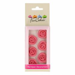 FUNCAKES SET OF 6 PINK MARZIPAN DECORATIONS ( FC74008 )