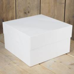 FUNCAKES WHITE CAKE BOX 35 X 35 X 15CM. ( FC1091 )