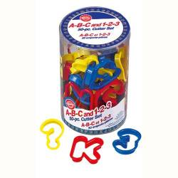 CUTTER LETTERS AND NUMBERS 50 UNITS A-B-C-1-2-3 WILTON (...