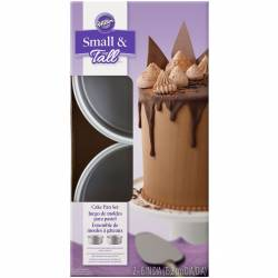 SET OF 2 TALL AND SMALL LAYER CAKE PANS. WILTON (...