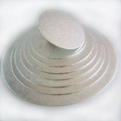 FUNCAKES ROUND BASE SILVER 33 X 4 MM ( FC933RD )